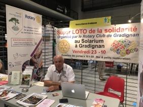 Stand du Rotary au Forum